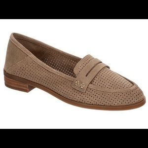 NWOT Lucky Brand Caylon Perforated Suede Loafers